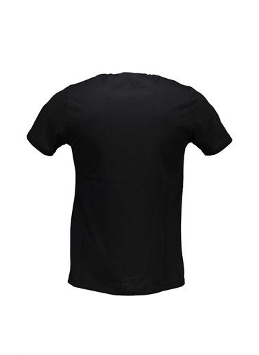 Collezione Collezione  Baskılı Erkek Tişört Siyah